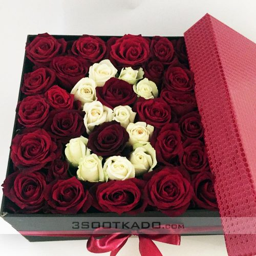 خرید اینترنتی جعبه گل رز