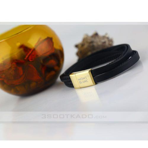 دستبند چرم مردانه چهار لاین