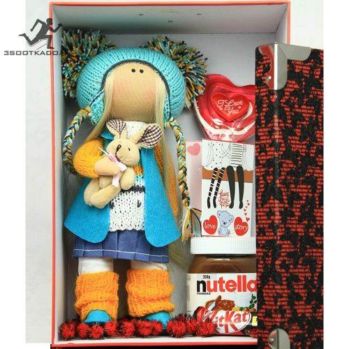 خرید پکیج ولنتاین دخترانه با عروسک روسی