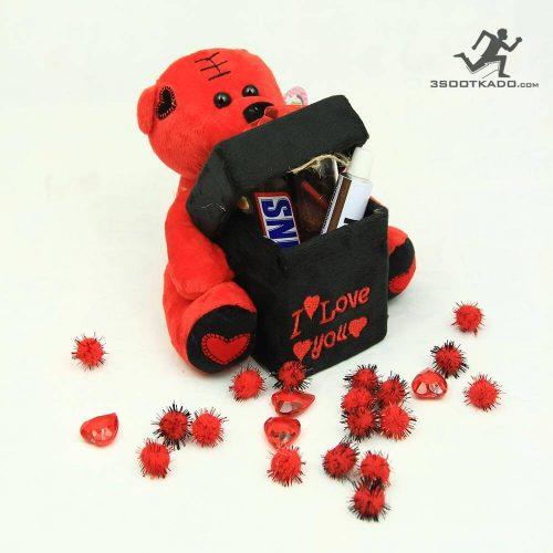 خرید پکیج ولنتاین خرس با جعبه چسبیده