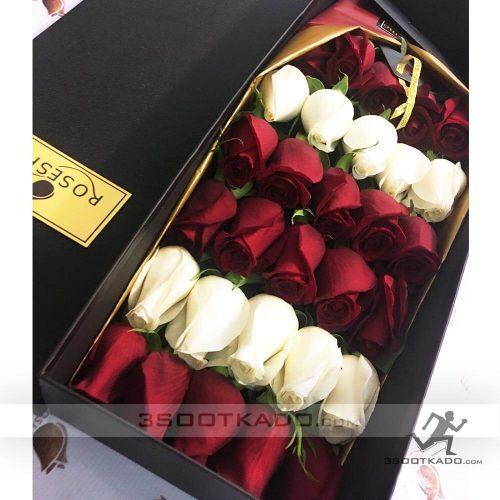 خرید جعبه گل رز سی شاخه