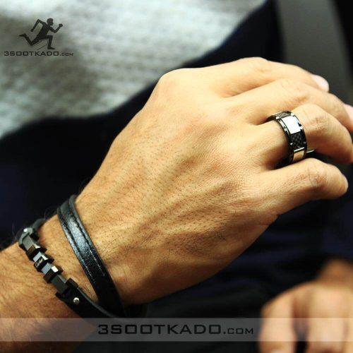 خرید ست دستبند چرم و انگشتر مردانه