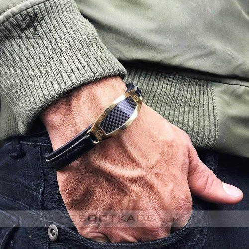 خرید دستبند چرم اصل