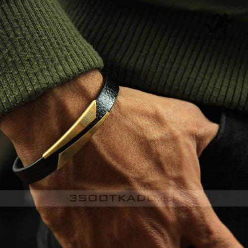 خرید دستبند چرم طبیعی برند دیزل