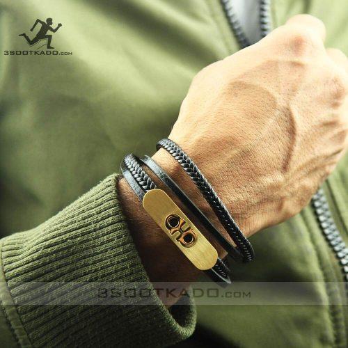 خرید اینترنتی دستبند چرم جغد
