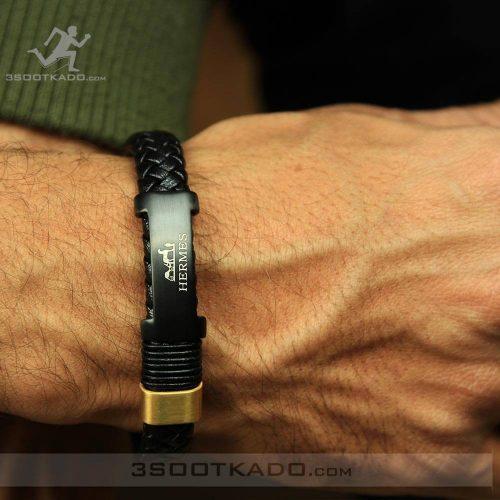 خرید اینترنتی دستبند چرم اصل برند هرمس