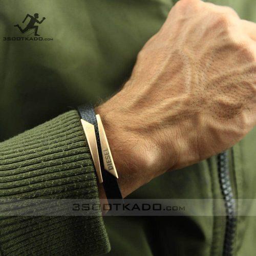 خرید اینترنتی دستبند رزگلد برند دیزل
