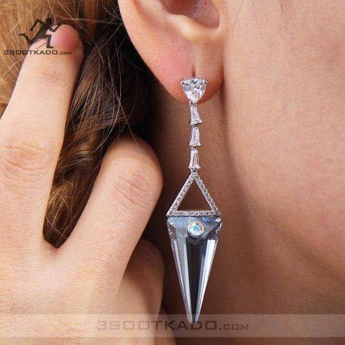 خرید گوشواره بلند سواروسکی