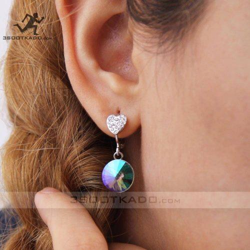خرید گوشواره سواروسکی دایره ای
