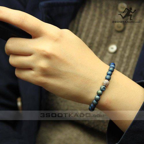 خرید دستبند سنگ طبیعی باریت استثنایی آبی