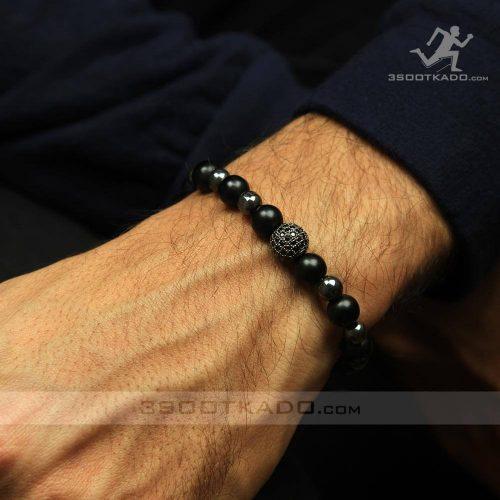خرید دستبند مردانه دست ساز سنگ انیکس