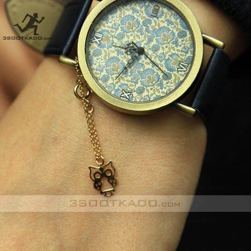 خرید آویز ساعت طلا جغد