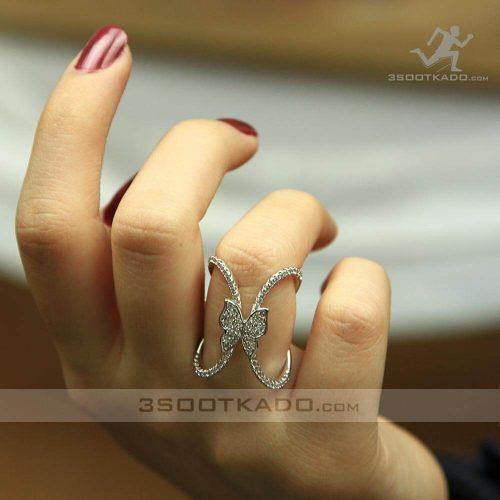 خرید انگشتر زنانه دوبل پروانه