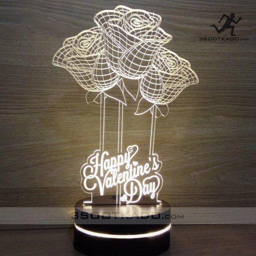 خرید چراغ خواب سه بعدی کادو ولنتاین