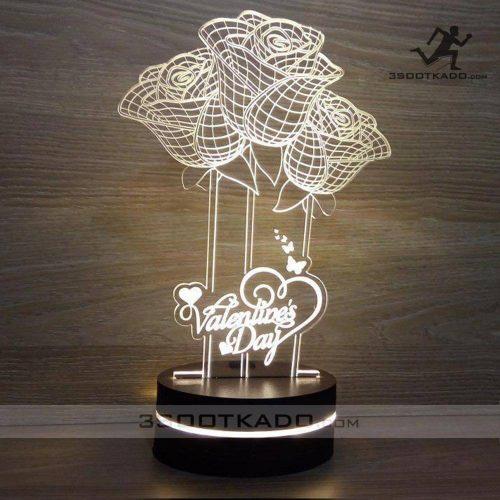 خرید چراغ خواب سه بعدی ولنتاین