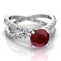 زیباترین کادو: سنگ ماه تولد سواروسکی یاقوت روبی قرمز تیر ماه و مرداد ماه