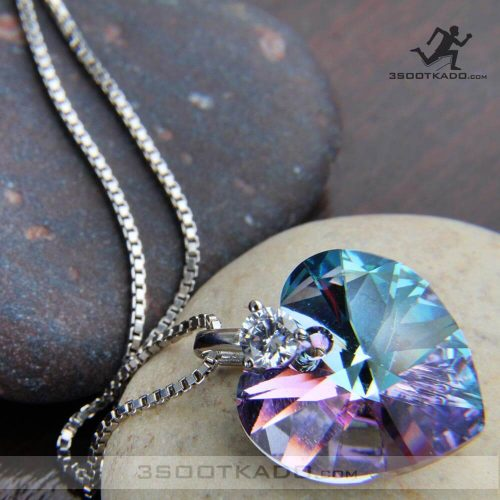 خرید گردنبند قلب سواروسکی اصل با سنگ