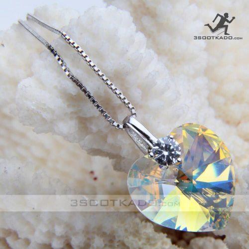 گردنبند نقره با سنگ سواروسکی