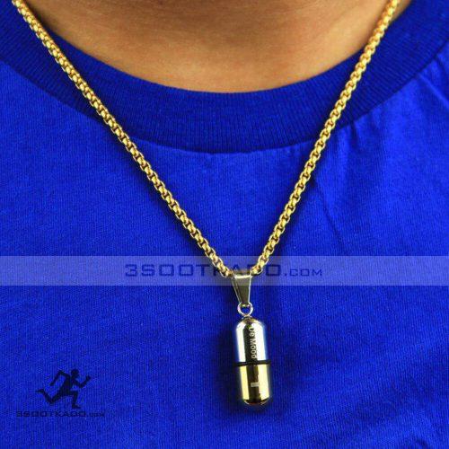 گردنبند استیل طلایی
