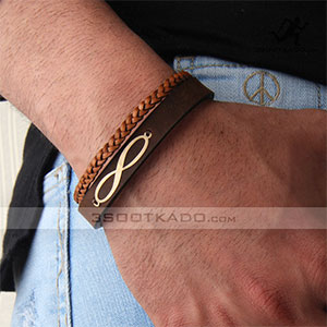 خرید اینترنتی گردنبند سفارشی - دستبند چرم و طلا تایماز