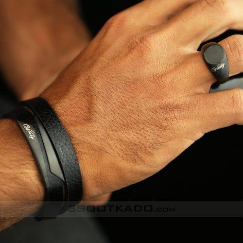 ست دستبند چرم مردانه