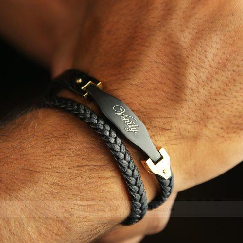 خرید آنلاین دستبند چرم برند ویتالی