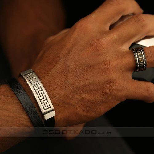 ست دستبند مردانه چرم