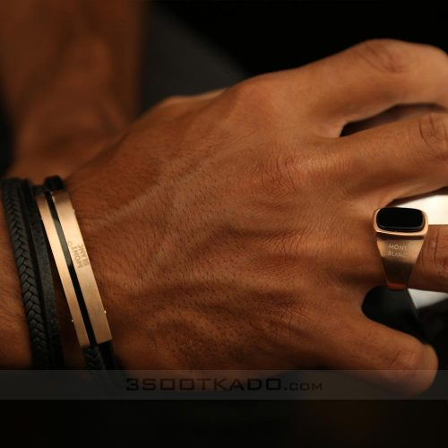 دستبند چرم مون بلان