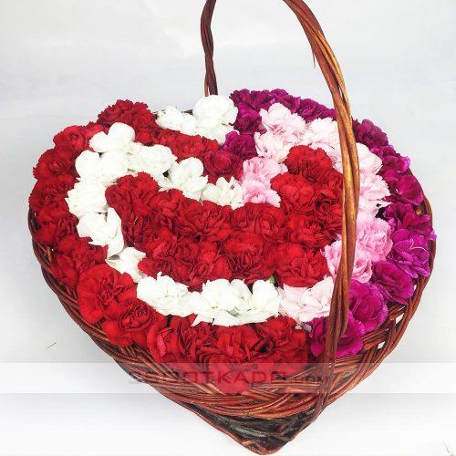 خرید سبد گل چوبی